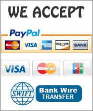 WE ACCEPT PAYPAL CREDIT CARDS BANK WIRE TRANSFER